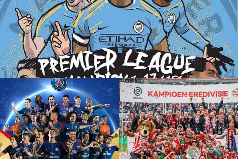 City-Psg-Psv, le prime tre squadre diventate campione ieri